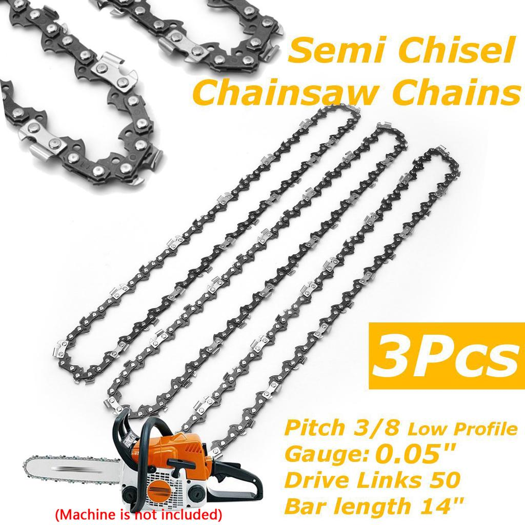 For STIHL MS160 MS170 MS171 MS180 16inch .050 Gauge 55DL Semi Chisels Saw Chains