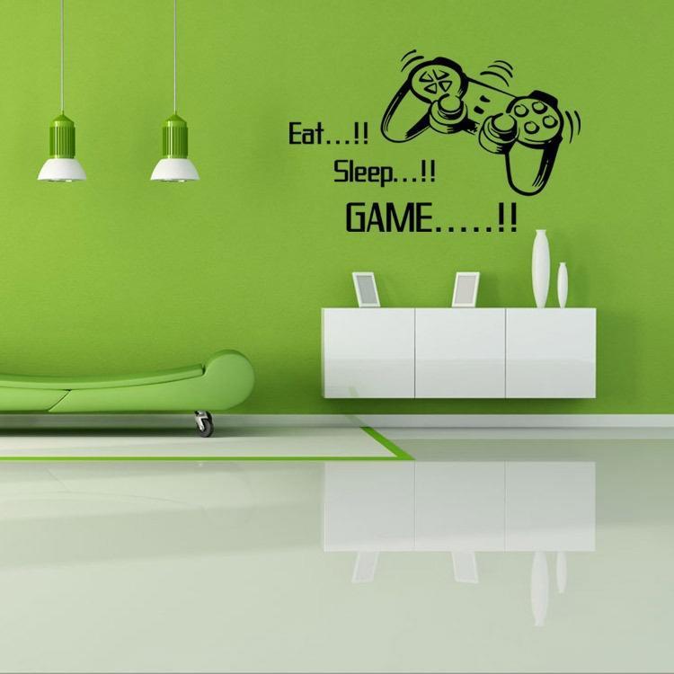 Xbox comer dormir juego Vinilo etiquetas de pared arte calcomanía para niños den Dormitorio Gaming