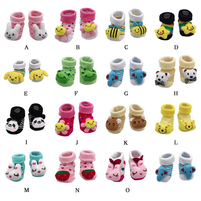 0-12 Months Baby Anti-slip Socks Cartoon Newborn Slipper Shoes Boots Baby Shoes