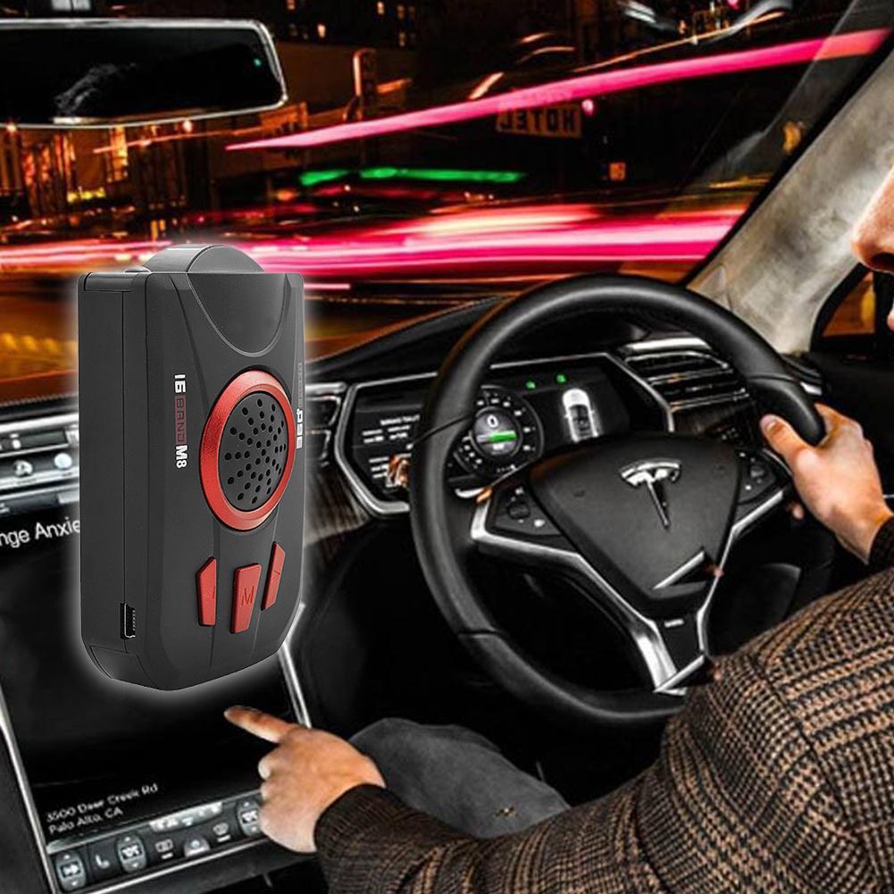360° Car Truck 16Band GPS Speed Police Radar Detector Voice Alert Laser LED NEW