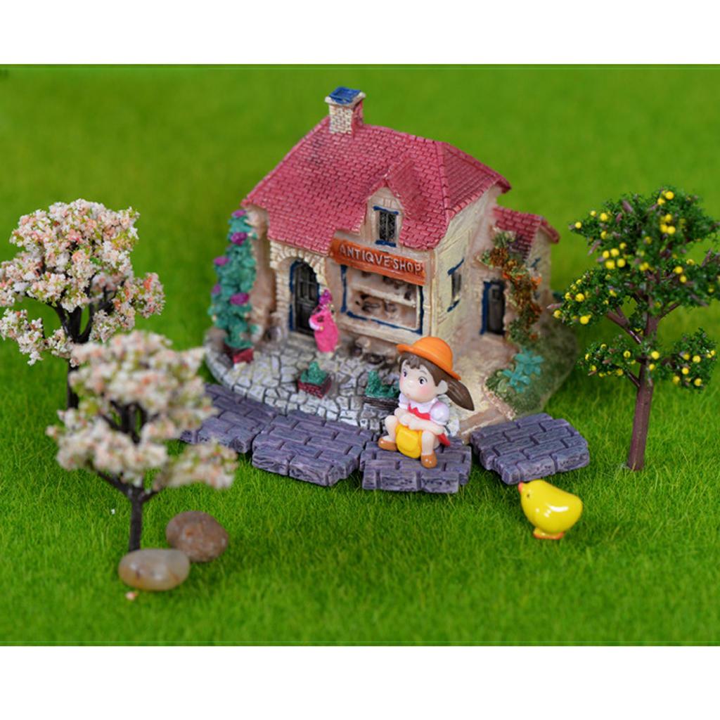 Miniatur Haus Fee Garten Micro Landschaft Hausgarten Dekoration Bonsai Craft