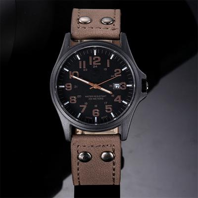 High-end Calendar Belt Quartz Watch Fashion Sports Men's Watch