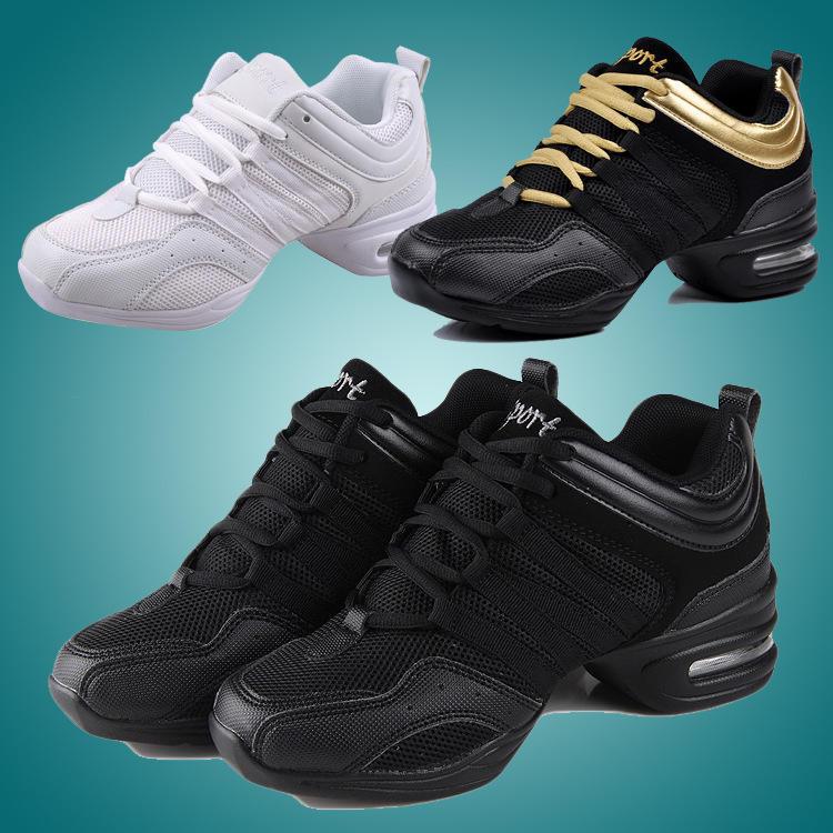 Взрослый танцевальной обуви современного танца сетки мягкой нижней джазовый танец обувь лето спорт Фитнес фото