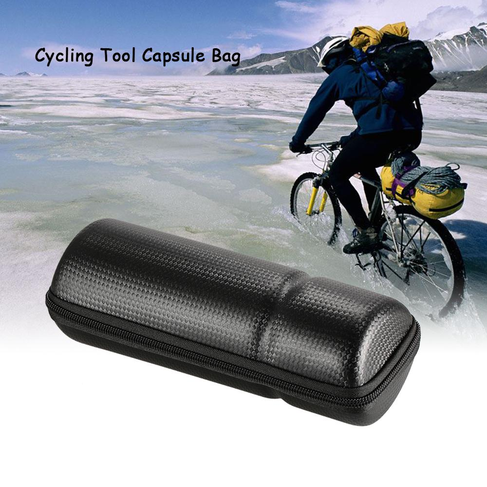 Road Bike Repair Tool Pouch Frame Bag Bottle Type Waterproof Hard Shell Toolkit