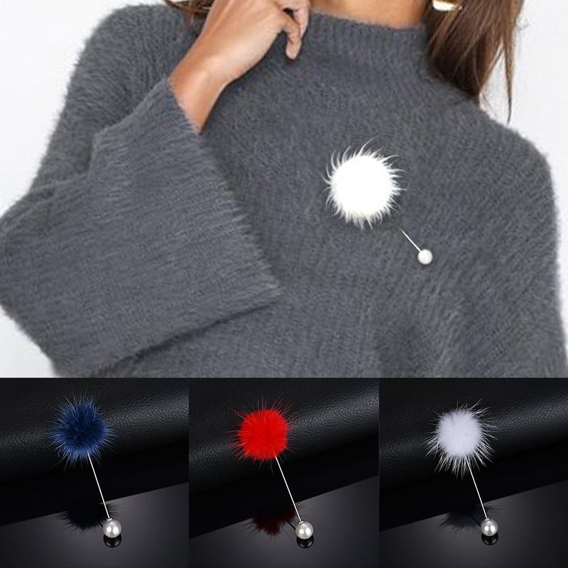 Очарование изысканный помпон мех мяч броши булавки Брошки женщин подарок элегантный – купить по низким ценам в интернет-магазине Joom