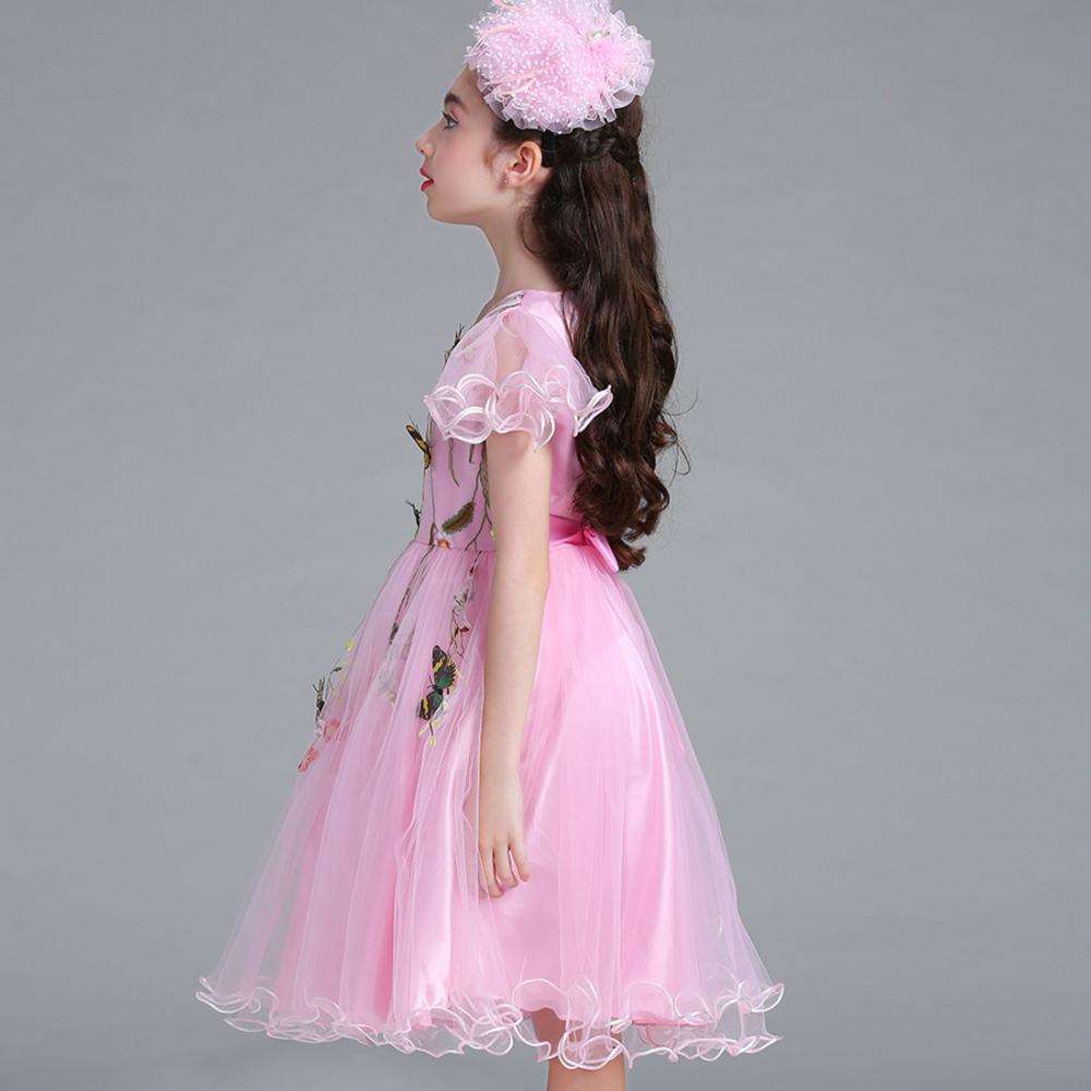 Flor chica Moda Cap manga mariposa princesa vestido de boda vestido ...