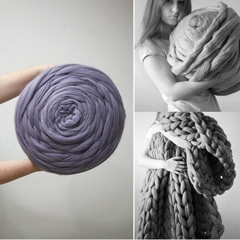 Lana grueso suave grande estupendo DIY hilado abultado brazo tejer ...
