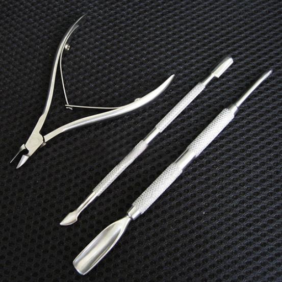 Нержавеющая сталь Нож для кутикулы Ложка Толкатель Нож для снятия ножницы Набор для стрижки – купить по низким ценам в интернет-магазине Joom