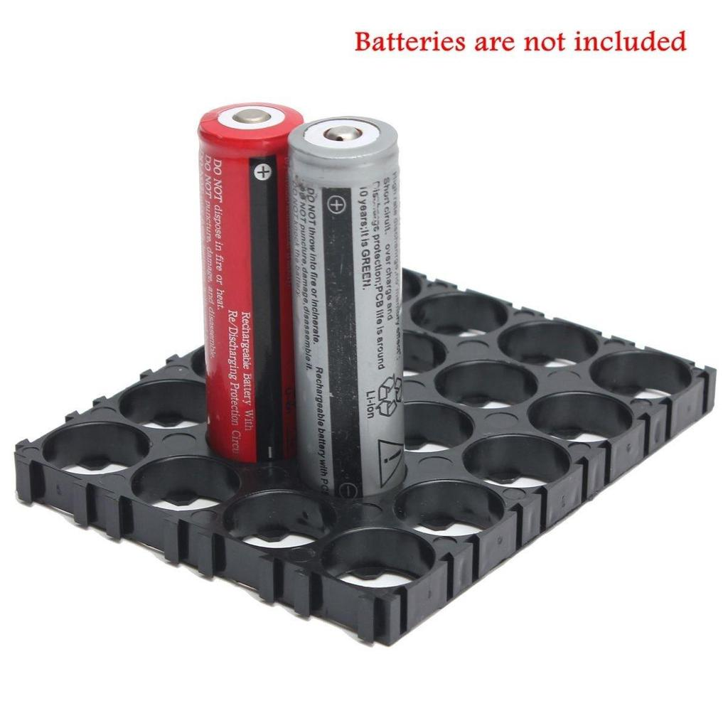 10PCS 18650 Battery 4x5 Cell Spacer Radiating Shell Plastic Heat Holder hot