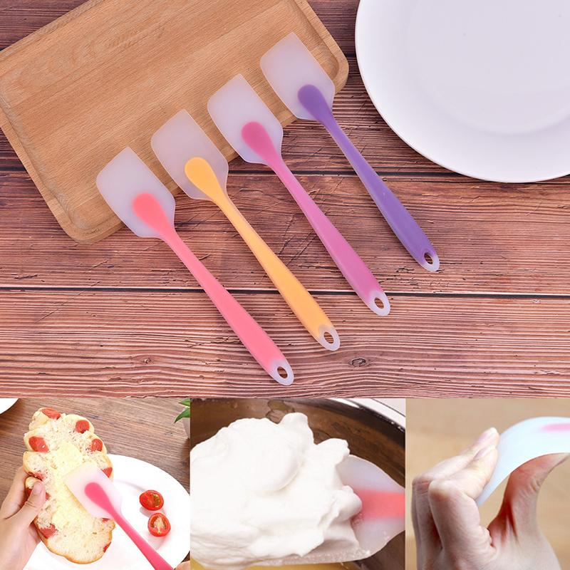 Details about  /Silicone Cake Cream Butter Spatula Mixing Batter Scraper Brush Baking Cook Tools