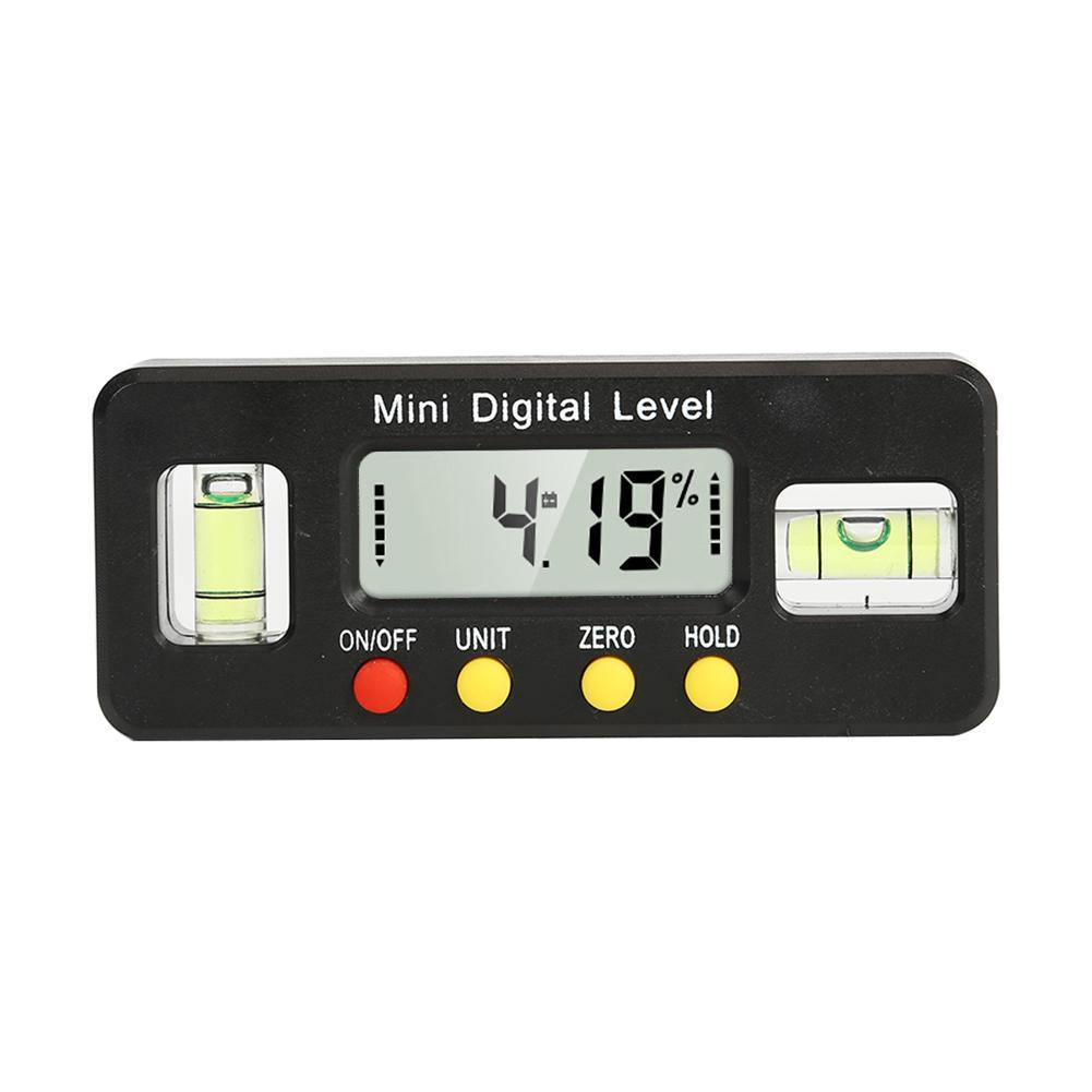 black 0-360/° LCD Digital Magnetic Mini Level and Bevel Gauge Angle Finder Inclinometer Magnet Base