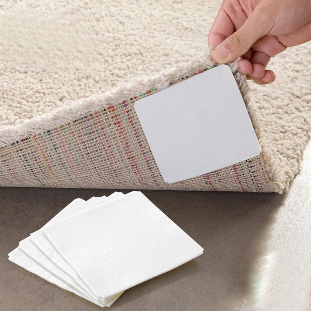 4PCS Carpet Pads Non-slip Silicone Anti Slip Sticker Prevent Slippery Wood Tiles