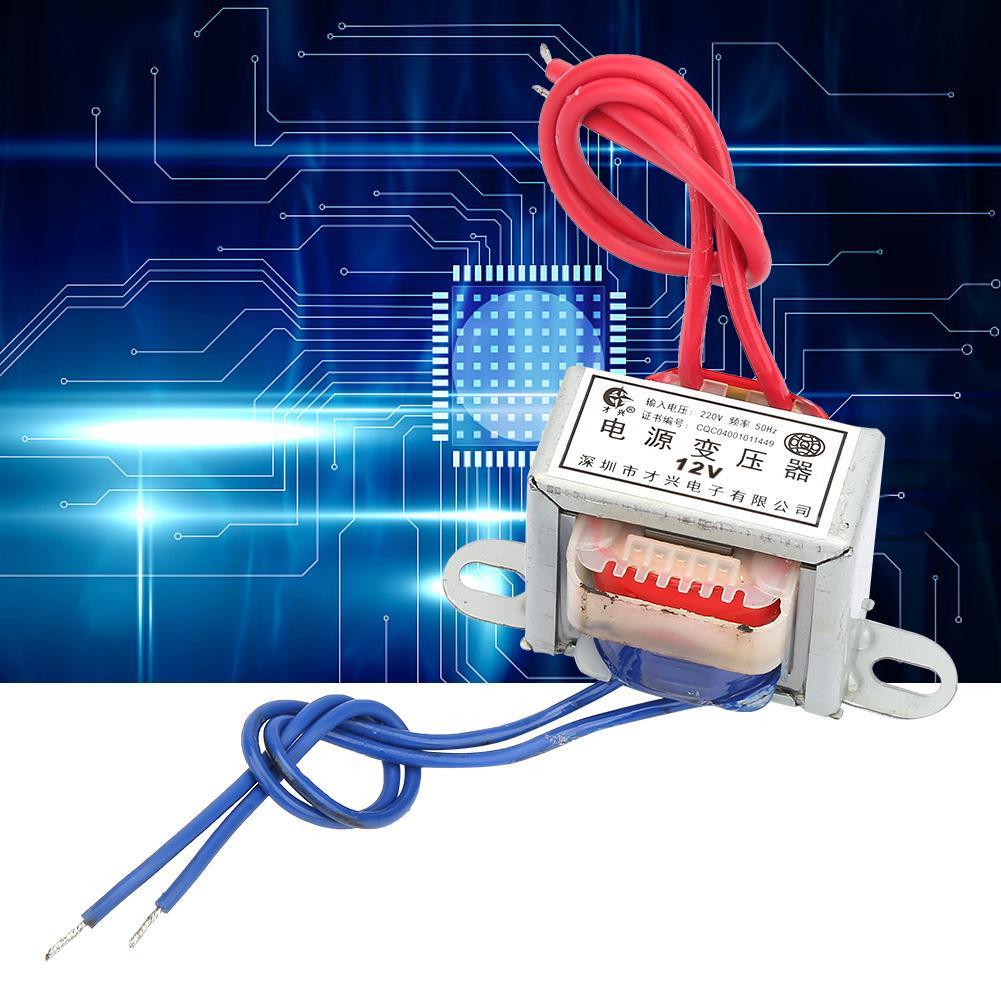 12V Single Power Transformer AC 12V//24V Output Voltage 2W Input 220V 50Hz Full Copper Wire Power Transformer with Vacuum Impregnated Insulation Varnish