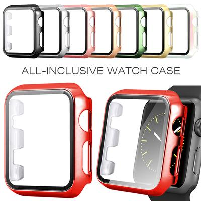 Electroplating PC Case+Tempered Glass Screen Protector for Apple Watch