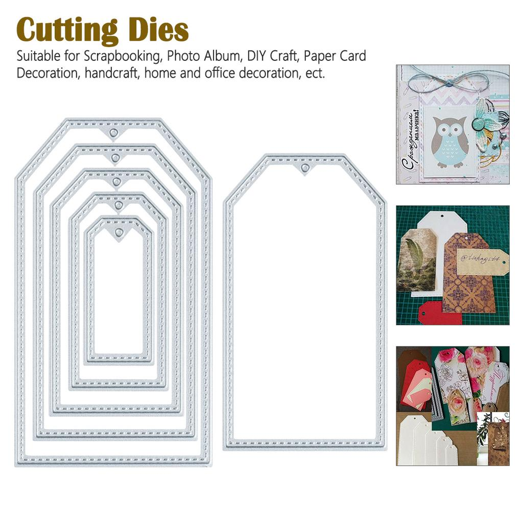 YESZ Die Cuts for Card Making,Heart Home House Cutting Dies DIY Scrapbook Emboss Paper Card Making Stencil Silver