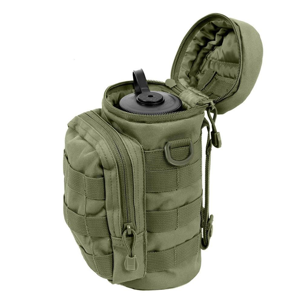 Details about  /Tactical Molle Water Bottle Bag Military Belt Holder Kettle Pouch Hunting Sport