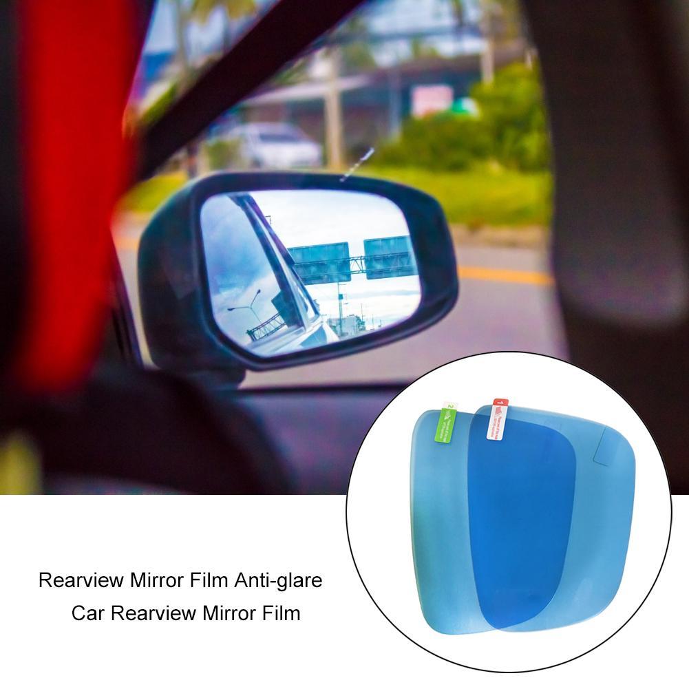 Car Rearview Mirror Rain Guard Film Anti-Fog Waterproof Oval Sticker 100x145mm