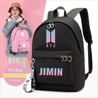 BTS Bangtan Boys Backpack School Student Bookbag Travel Shoulder Bags Set