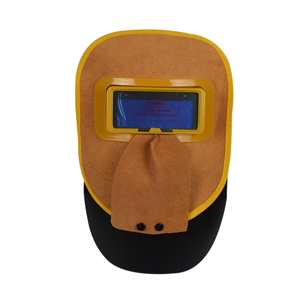 Plastic Safety Handheld Welding Mask Face Protector for Welder Yellow #3