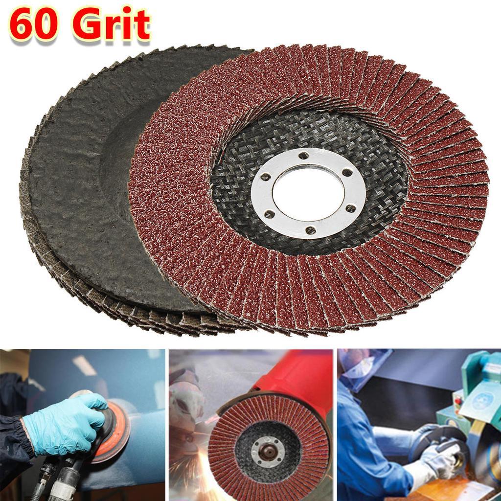 "5//10//20PCS 4.5/"" 115mm 40 60 80 120 Grit Flap Sanding Disc Grinding Wheel"