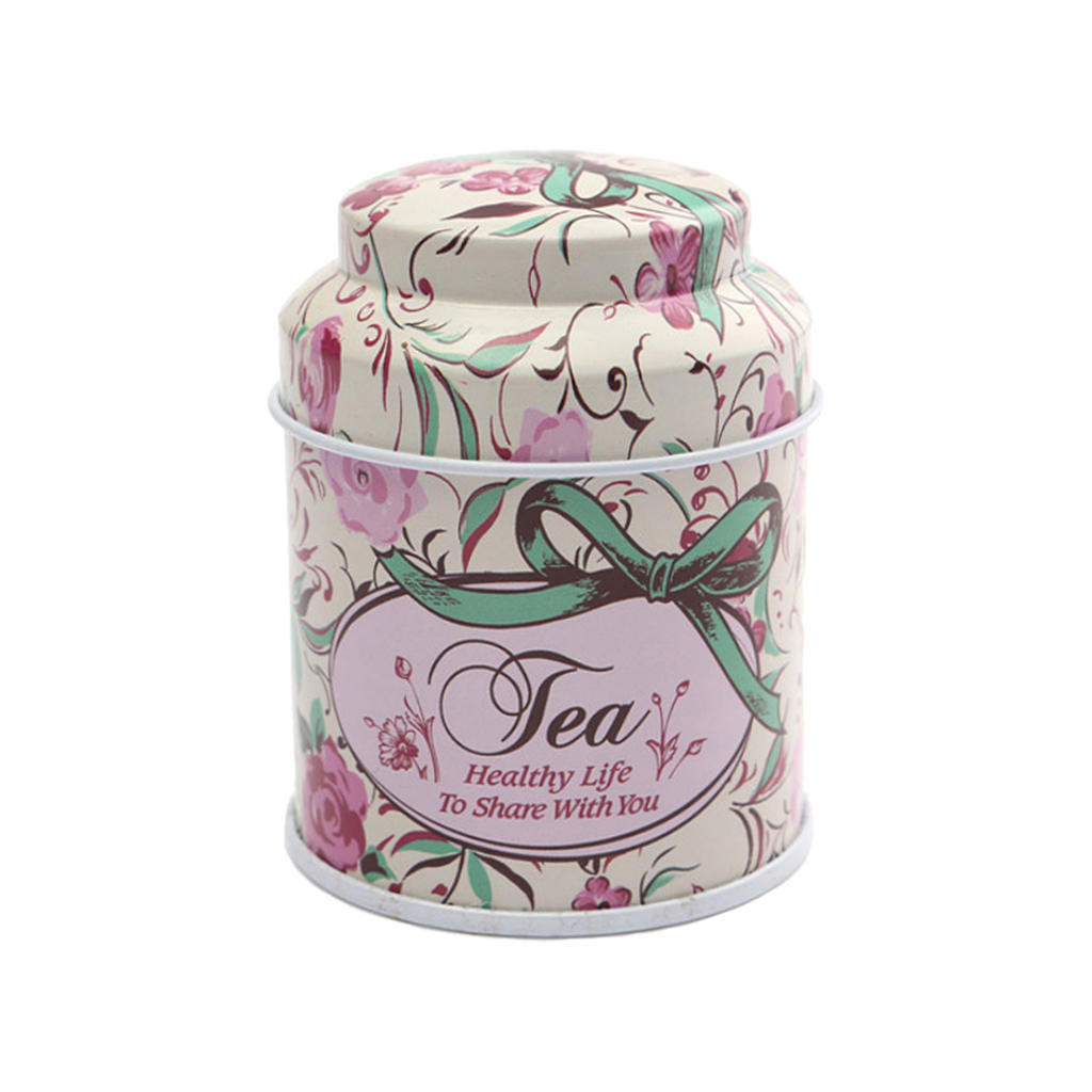 8 Pattern Flower Metal Sugar Coffee Tea Tin Jar Container Candy Sealed Cans Box
