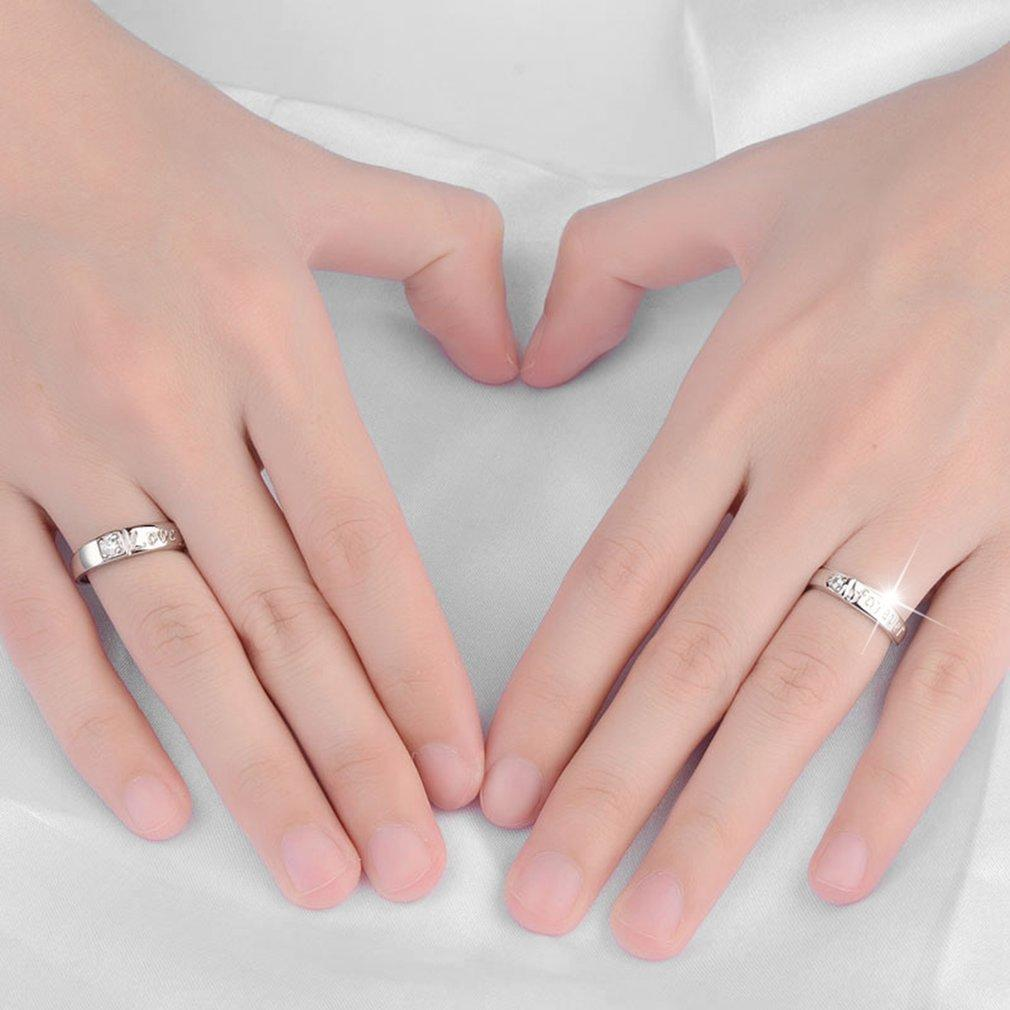 Zircon Rings 1 Pair 30% Sterling Silver Forever Love Carved Jewelry ...