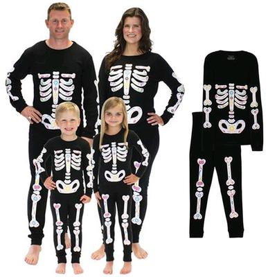 Skeleton Family Halloween Costumes.Family Match Halloween Zombie Party Skeleton Costumes