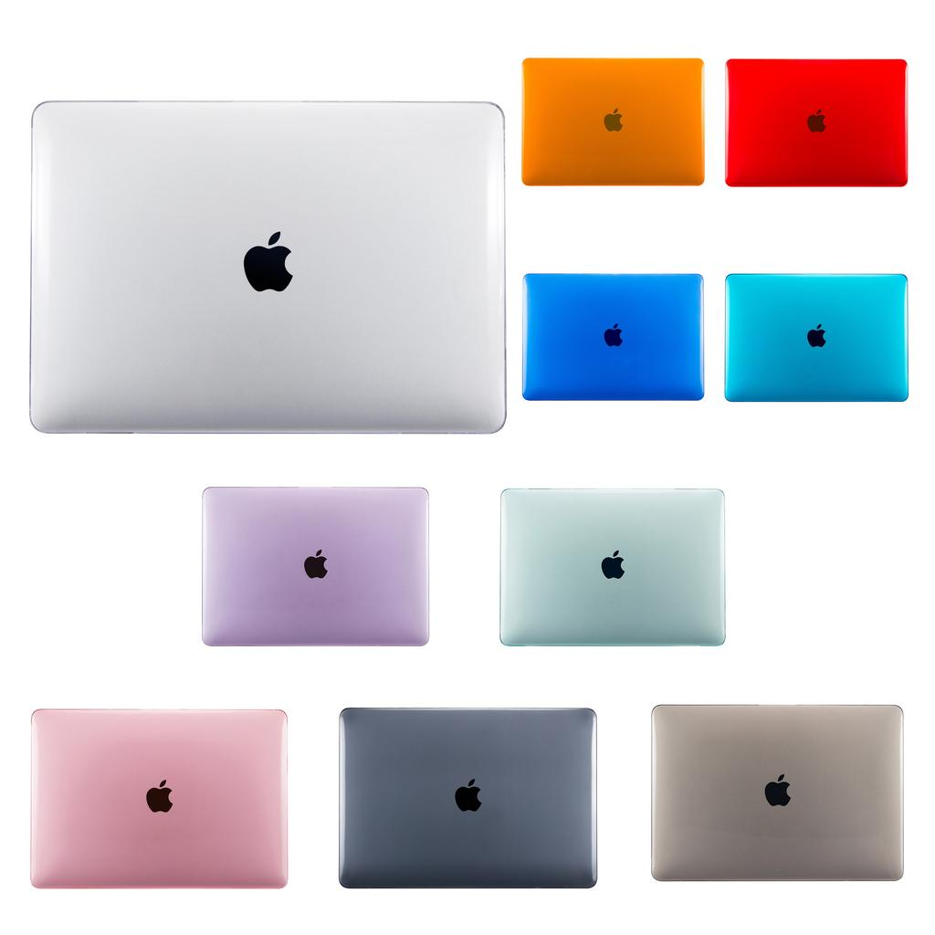 Matte Hard Laptop case for MacBook Pro Retina Air 13 A1466 12 11.6 inch Cover for 2019 New pro 13 A2159 Touch ID A1932-Crystal transparent-2019 pro13 A2159