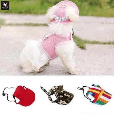 Home Supplies Baseball Cap Summer Canvas Puppy Small Pet Dog Cat Visor Hat  Outdoor Sunbonnet