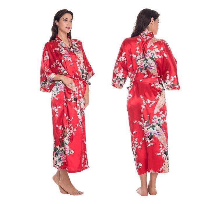 Kimono satén seda Bata Bata novia dama de honor dormir albornoz ...