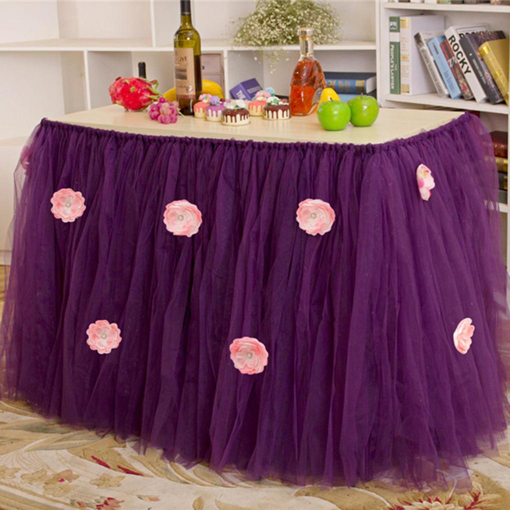 Flores mesa Tutu falda tul vajilla para boda cumpleaños decoración ...