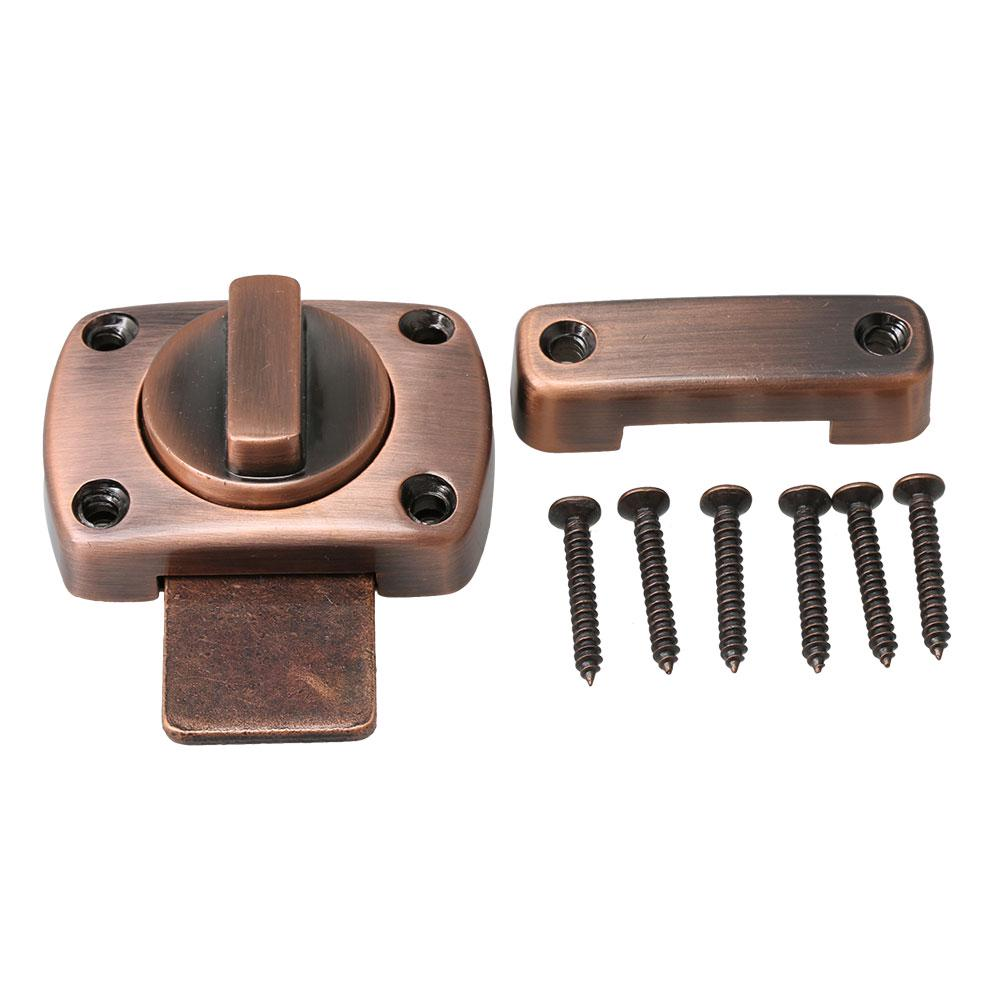 5.5x3.9x2.3cm Zinc Alloy Red Bronze Rotate Bolt Latch Safety Door Slide Lock