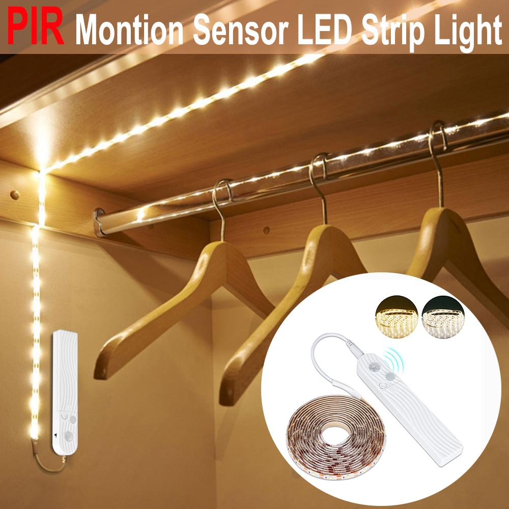 light led Kitchen LED Lights DC 5V USB Battery Powered PIR Motion Sensor Human