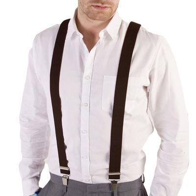 Skinny Red Polka Cross Trouser Braces Elastic Suspenders Handmade in England