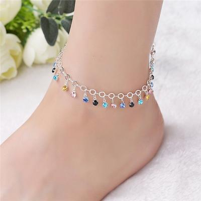 Vintage Fashion Crystal Anklets For Women  Gold Ankle Bracelet