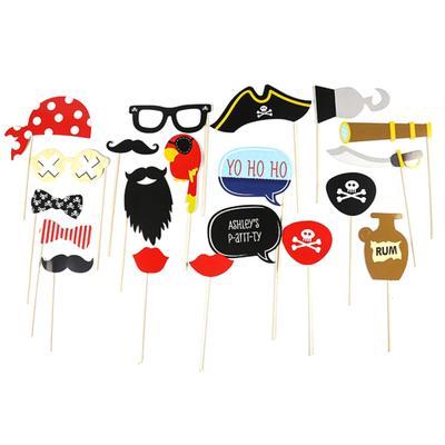 15pcs Photo Booth Props Moustache Pumpkin on A stick Halloween Party Decor