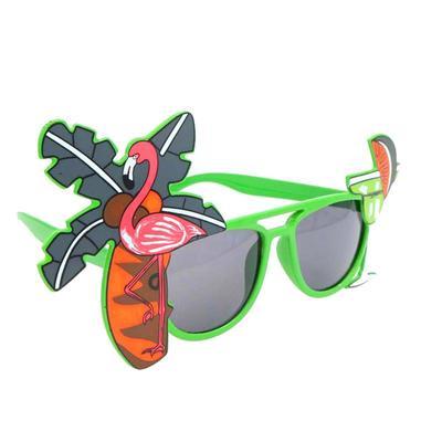 c0e25ab295 Tropical Hawaiian Flamingo Eyeglasses Coconut Tree Juice Eye Glasses for  Luau Party Beach(Green)