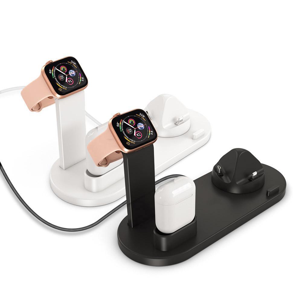 3 в 1 Зарядка Стенд для Apple Watch AirPods USB Зарядное устройство Док станции держатель для мобильного телефона