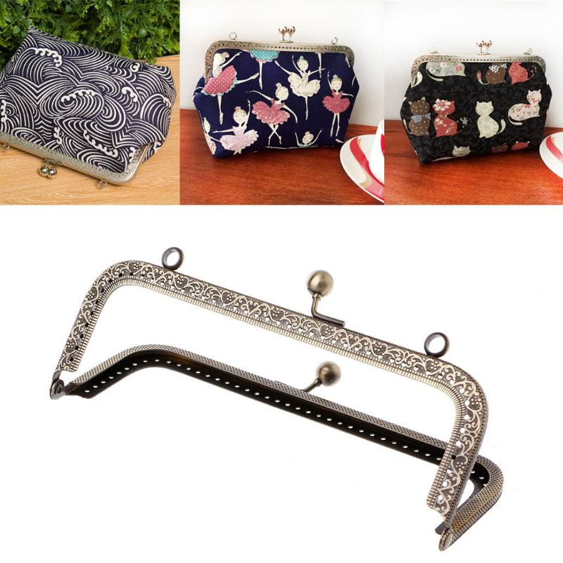 Metal Arch Purse Bag Frame Kiss Clasp Pretty Lock Clip Bags Making DIY Crafts