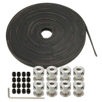 26PCS//set Timing Belt GT2 5mm Bore Pulley 3D-Printer For RepRap Prusa Mendel