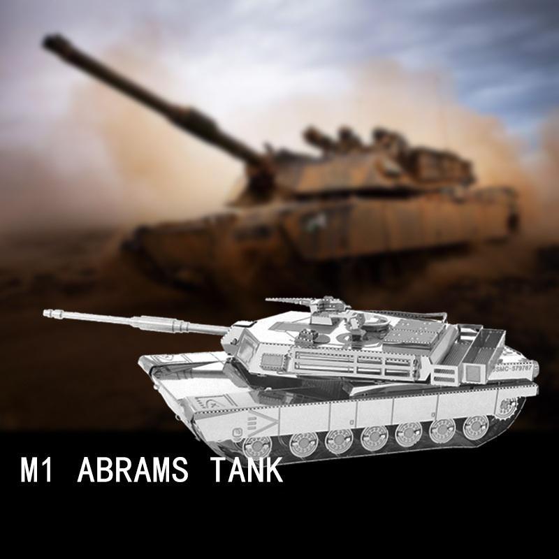 3D Металлическая головоломка DIY Abrams основной боевой танк Головоломка головоломки средняя трудность подарки – купить по низким ценам в интернет-магазине Joom