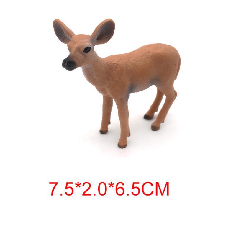 6pcs réaliste White Tailed Deer Action Model-WILD Flormoon figures animales