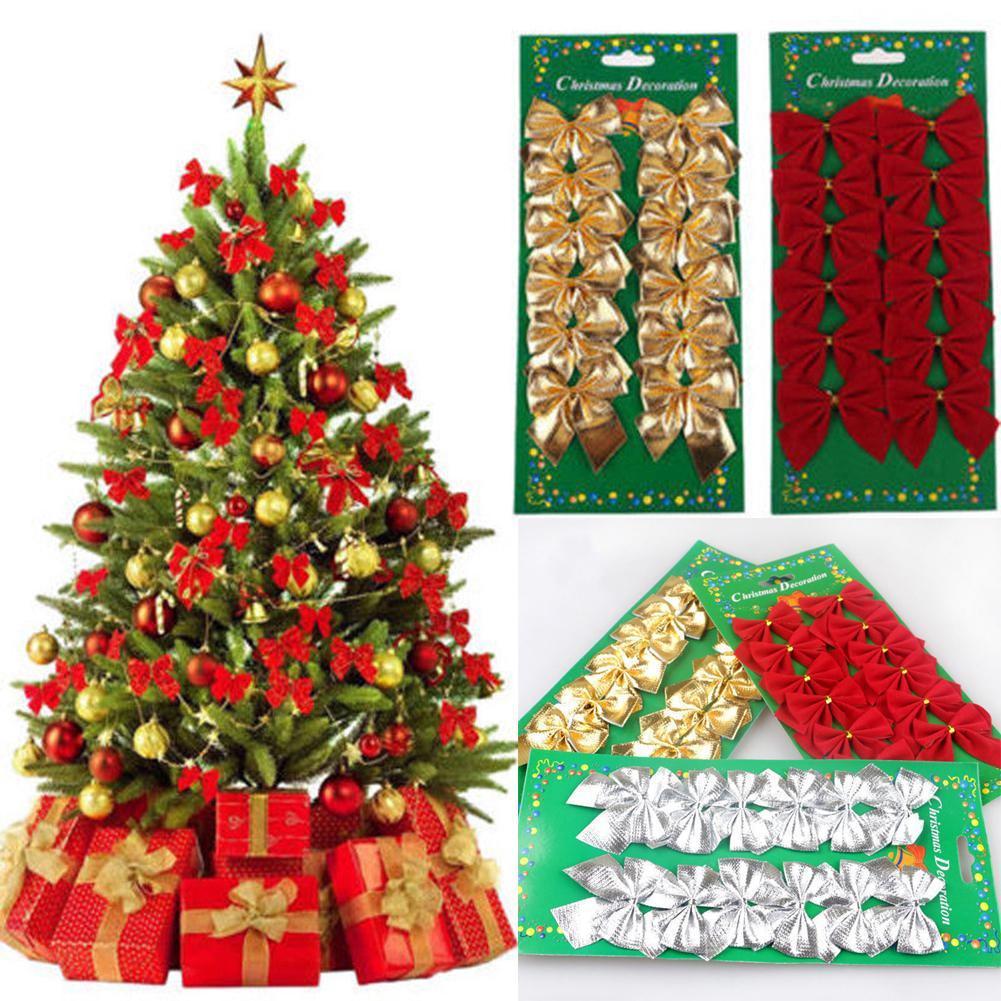 6//12Pcs Christmas Tree Ornaments Balls Wedding Festival Party Hanging Decoration