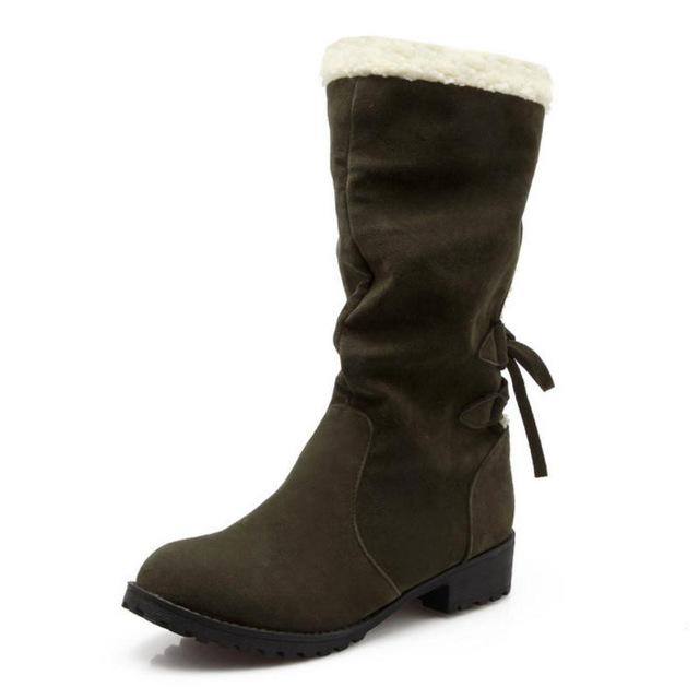 CULARACCI Size 33 43 Women Flats Boots Thick Fur Winter Fashion Warm Short Woman Round Toe Shoes