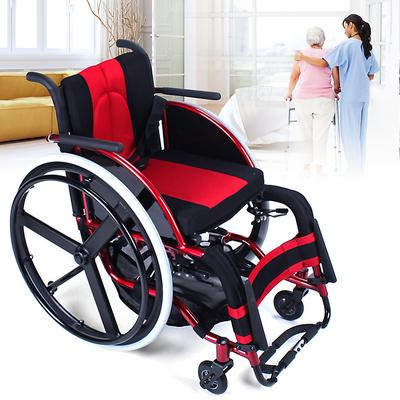 портативный спортивный спортивнаяый инвалидной коляске складной алюминиевый сплав легкие тележки