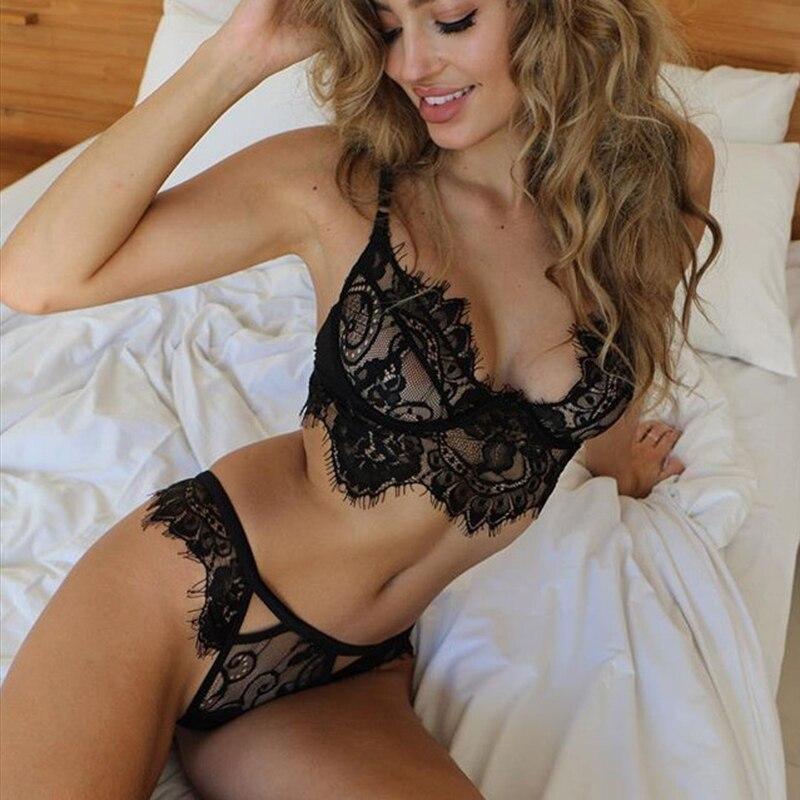 Women Sexy Bra Brief Sets Retro Lace Sling Sexy Hollow Underwear Suit acquista in modo economico — spedizione gratuita, recensioni reali con foto — Joom