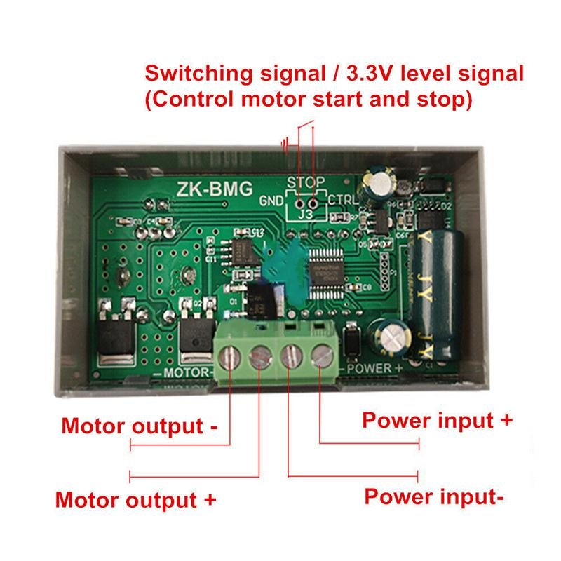 PWM 12A 500W 9-60V DC Motor Speed Governor Controller Switch BMG Digital Display