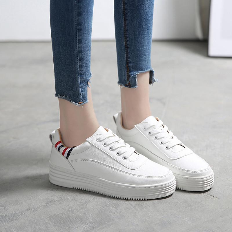 Increased in The Spring and Autumn Canvas//Womens Korean Version of Sponge Cake with Thick-Soled Shoes//Casual Breathable to Help Student Shoes
