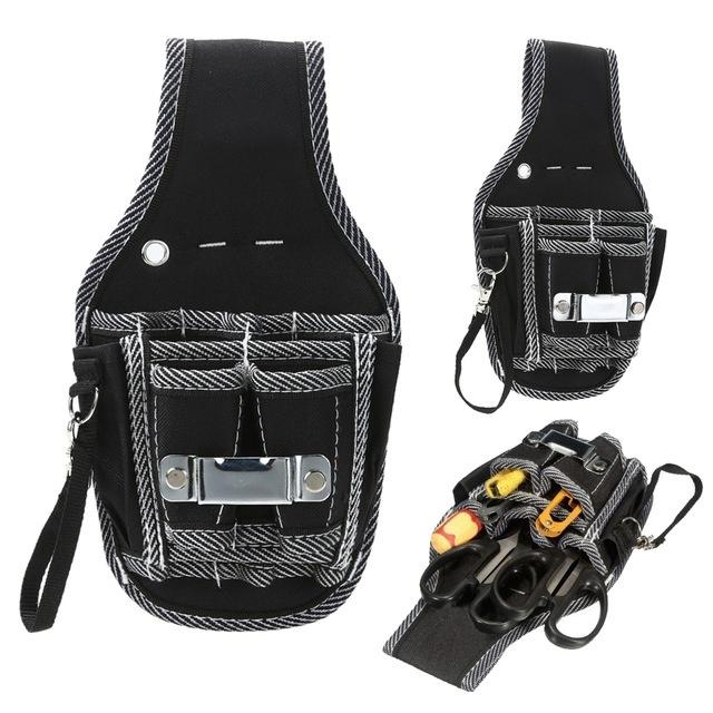 600DLarge Capacity Electrician Tool Pouch Belt Bag Waist Pocket Storage Oganizer
