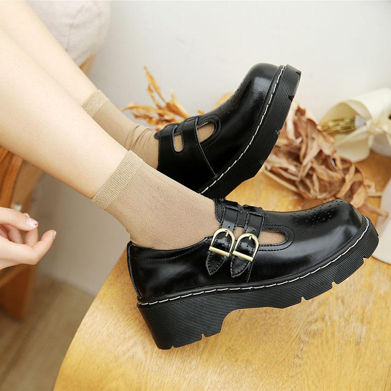 Details about  /Retro Mary Jane Women Round Toe Ankle Strap Flat Lolita Court Pumps 41 42 43 B